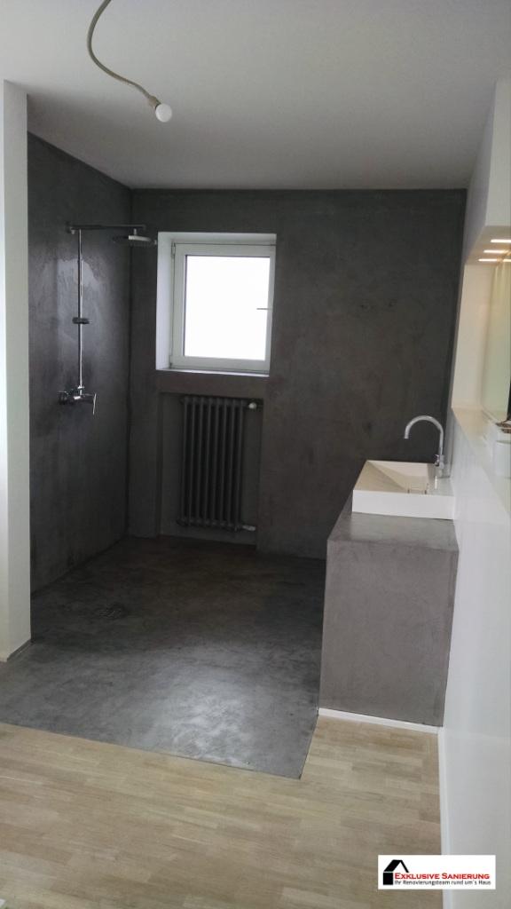 fugenlose Badezimmer, Badsanierung